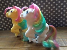 MLP G1 My Little Pony TWO Ponies Skydancer  & Starshine Vintage 1980 s
