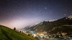 Kleinwalsertal under a starry sky   HausHimmelreich  #kleinwalsertal Alpine Village, Mount Everest, Mountains, Nature, Travel, Heaven, Voyage, Viajes, Traveling