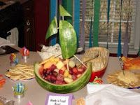 belle party fruit boat