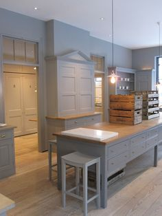 Beautiful English kitchen pieces ... putty and grey