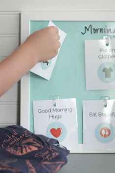 Morning Routine Cards and How to Create morning routine. Wouldn't mind prettying up my version to this :-)