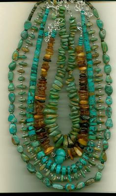 Turquoise necklaces made this week end