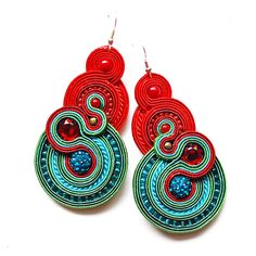 Soutache earrings from Decomama