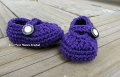 Crochet Mary Janes Free Pattern