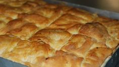 Food & Drink – Page 9 – allabout. Pita Recipes, Greek Recipes, Cooking Recipes, Greek Pastries, Bread And Pastries, Cookie Dough Pie, Cypriot Food, Greek Pita, Savory Muffins