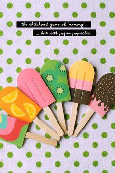 permainan berlatih ingatan dan menggunting untuk PAUD, berbentuk es krim lucu