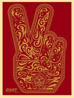 Peace Fingers by Shepard Fairey