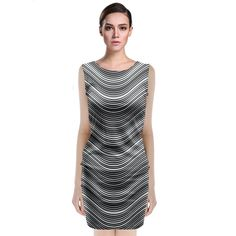 Pattern A classy dress style for all the ladies who like to keep it simple and elegant. With the option to design both the front and back as well, treat the dress like a canvas and paint your own designs onto it.     Made from 90% Polyester, 10% Spandex Soft, stretchy, lightweight and quick drying fabric Regular fit Fully customizable Hand wash in cold water only Designs imprinted using an advance heat sublimation technique    Attention: Due to bleeding and fabric stretch, the previewed…