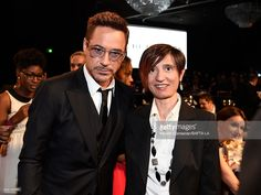 Actor Robert Downey Jr. and Debora Volterrani attend the BAFTA Los Angeles Jaguar Britannia Awards presented by BBC America and United Airlines at The Beverly Hilton Hotel on October 30, 2014 in Beverly Hills, California.