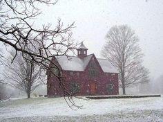 First SNOW! #barnhomeholidays