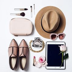 Chriselle Lim's flatlay #beauty #travel #flatlay