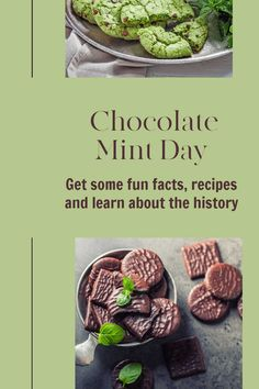Get some fun facts and recipes and learn about the history of Chocolate Mint Day, one of the tasty food holidays in February.. #nationaldays #mintchocolate #chocolate History Of Chocolate, Chocolate Day, Dinner Mints, Mint Chocolate Chip Cookies, Christmas Tree Cookies, Mint Recipes, National Days, Gel Food Coloring, Yummy Food