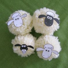 Cute lambs - easter decorations or farm party decoration. Shaun the sheep. Farm Party Decorations, Diy For Kids, Crafts For Kids, Lamb Craft, Batman Gifts, Cute Lamb, 2nd Birthday Parties, Creative Kids, Spring Crafts