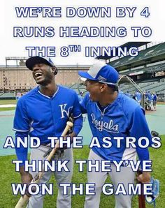 It's even funnier after Saturday's game against the White Sox. ⚾️