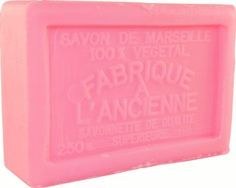 Savon de Marseille (Marseilles Soap) - Rose Soap Bar 250g - Handcrafted pure French milled soap by Le Sérail Savon de Marseille. $10.00. Free of sodium laureth/lauryl sulfate, phthalates, parabens, tallowate, synthetic fragrance or artificial coloring; 100% biodegradable; Not tested on animals. Part of our French soaps collection imported directly from Marseilles. Pure, gentle and naturally moisturizing. Handmade by the last remaining traditional soapmaker in Marseilles - ...
