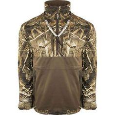 6122da08323bb Drake Mossy Oak Blades Flex Quarter Zip Fleece Lined Eqwader Jacket. Camo  ...