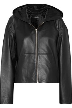 T by Alexander Wang Hooded leather jacket (now 55% off)