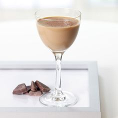 Baileys based chocolatini cocktail. Baileys based creamy mixed drink.