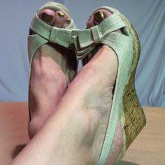 Madden Girl Cream Classy Bow Wedges
