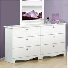 Nexera Dixie 6 Drawer Double Dresser in White
