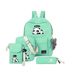 1acd58671a Check out our picks for the MaxxCloud Lightweight Canvas Backpack Panda  Casual Daypack School Bag Women Girls from the popular ...