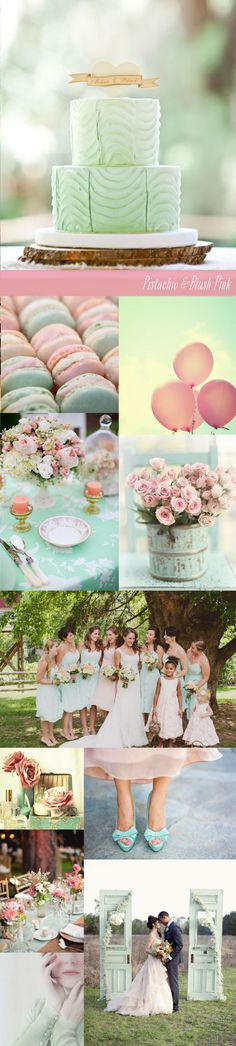Pistachio and Blush Pink Wedding www.thelittlecanopy.com