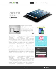 Premium Metro Style Blog Template PSD for Free Download - cssauthor.com
