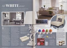 All White Now: BOUND's ready to ship Wedding Guest Books is featured in a white interiors piece in Dorset Magazine
