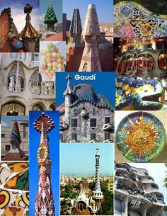 Gaudi Collage. So much amazing architecture in Barcelona by him
