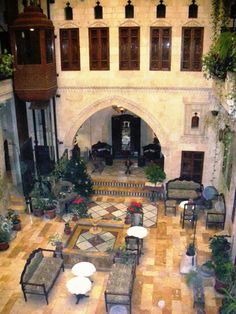 An old oriental house in Aleppo, Syria Islamic Architecture, Architecture Details, The Beautiful Country, Beautiful Homes, Trinidad Carnival, Roman Art, Courtyard House, Luxor Egypt, Future City