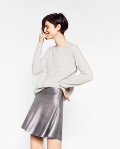 Image 2 of SHORT A-LINE FOIL SKIRT from Zara