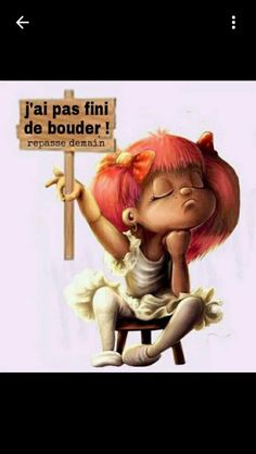 hihi c est moi LOL Funny Attitude Quotes, French Quotes, Decir No, Little Girls, Have Fun, Funny Pictures, Hilarious, Messages, Cartoon