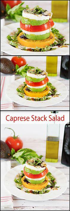 Caprese Salad Stack www.joyineveryseason.com