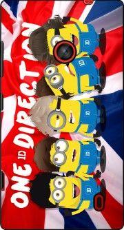 coque Minions mashup One Direction 1D pour Nokia Lumia 635