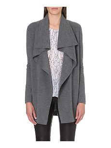 Secure an elegantly laid-back aesthetic with Theory's Trincy cardigan. Crafted in a lightweight wool blend, the slouchy design features an oversized draped lapel, ribbed trims and an all-over flecked marl effect. The Cardigans, Waterfall Cardigan, Knit Patterns, Wool Blend, Knitwear, Duster Coat, Blazer, Clothes For Women, Sweaters