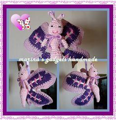 farfalla amigurumi uncinetto e cotone con ali rigide