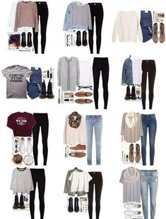 teenager outfits for school . teenager outfits for school cute Teenage Girl Outfits, Teen Fashion Outfits, Teenager Outfits, Mode Outfits, Cute Fashion, Grunge Outfits, Fashion Styles, Fashion Clothes, Fashion Trends