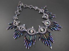 Thorned Beauty Necklace PDF Downloadable Pattern Tutorial for Beading