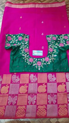 Best Blouse Designs, Sari Blouse Designs, Bridal Blouse Designs, Blouse Styles, Embroidery Works, Embroidery Designs, Ikkat Dresses, Work Blouse, Hand Designs