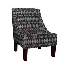 Venda Sloped Arm Chair featuring KRLGFabricPattern_68DBV3LRG by karenspix | Roostery Home Decor