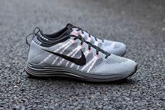 #nike #flyknit lunar+ 1 grey black red #Sneakers
