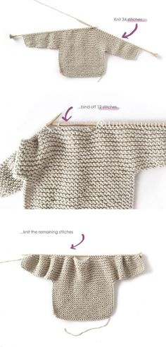 Knitted Kimono – NUR Baby Jacket Pattern & Tutorial - How to make a Knitted K., Knitted Kimono – NUR Baby Jacket Pattern & Tutorial - How to make a Knitted Kimono Baby Jacket – Free knitting Pattern & tutorial - Baby Sweater Knitting Pattern, Free Knitting, Baby Cardigan Knitting Pattern Free, Knit Baby Sweaters, Knitting Stitches, Mohair Sweater, Cardigan Pattern, Knitting Ideas, Baby Patterns