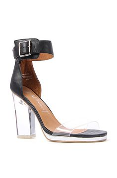 The Soiree Shoe in Black and Clear by Jeffrey Campbell $126.00