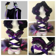 #rave #edm #edc #raveattire #raveoutfit #ravebra #plur #kandi #daisy #beautiful #love #disney #villan #halloween #malificent