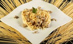 Receta de Espaguetis con salsa de champiñones y queso