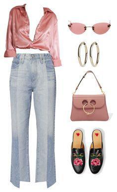 """""""Vitória #51"""" by vitoriaeduarda-11 ❤ liked on Polyvore featuring AG Adriano Goldschmied, Gucci, J.W. Anderson and Chanel"""