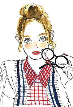 「イラスト おしゃれ 大人女子」の画像検索結果