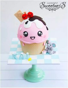 Ice cream cake. That. Is. So. Adorable!!