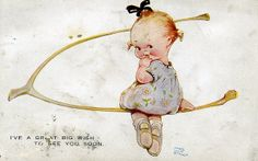 Mabel Lucie Attwell, Postcard. by Arkright., via Flickr