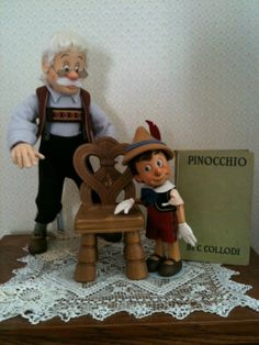 Geppetto AND Pinocchio Series II Traditional R John Wright